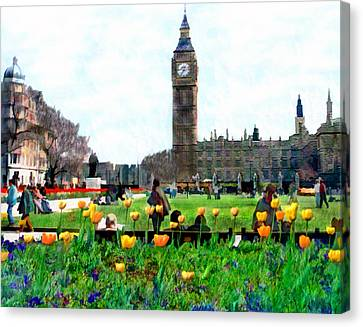 Parliament Square London Canvas Print by Kurt Van Wagner