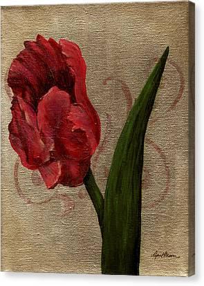 Parrot Tulip I Canvas Print by April Moen