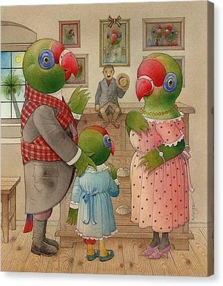 Parrots 03 Canvas Print by Kestutis Kasparavicius