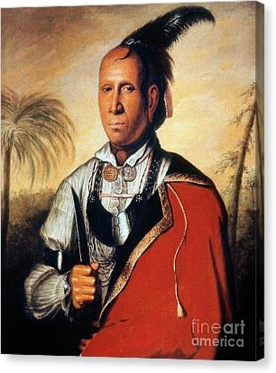 Parsons - Cherokee 1762 Canvas Print by Granger