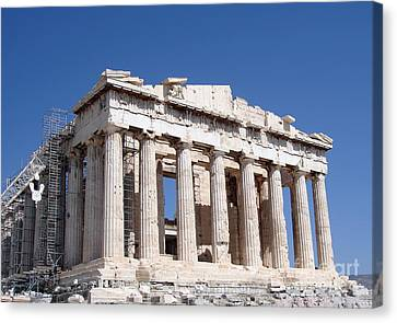 Parthenon Front Facade Canvas Print by Jane Rix