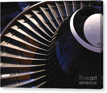 Partial View Of Jet Engine Canvas Print by Yali Shi