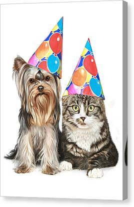 Party Animals Canvas Print by Bob Nolin