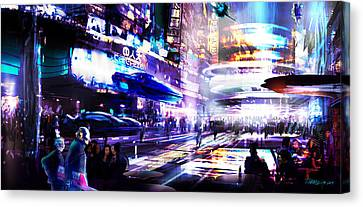 Party District Canvas Print by Tim Hansz