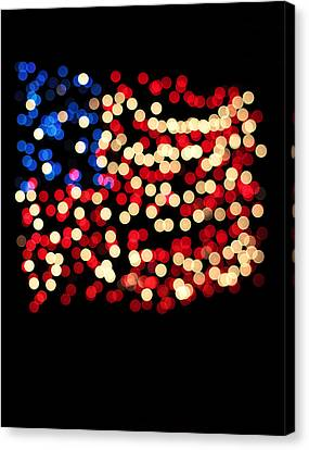 Party Lights In The Shape Canvas Print by Gillham Studios