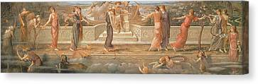 Passing Days Canvas Print by John Melhuish Strudwick
