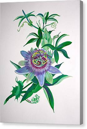 Passion Flower Canvas Print by Tracey Harrington-Simpson