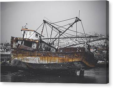 Past Memories Of The Sea Canvas Print by Mountain Dreams