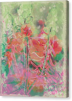 Pastel Ponderings Canvas Print by Francine Collier