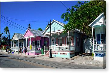 Pastels Of Key West Canvas Print by Susanne Van Hulst