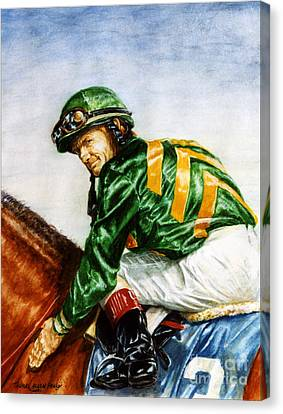 Pat Day -  Silks Of Lane's End Farm Canvas Print by Thomas Allen Pauly