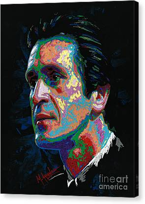 Pat Riley Canvas Print by Maria Arango