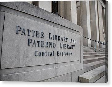 Paterno Library At Penn State  Canvas Print by John McGraw