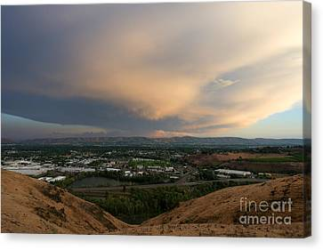 Path Of The Storm Canvas Print by Mike Dawson