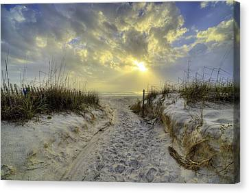 Path To Panama City Beach Canvas Print by JC Findley