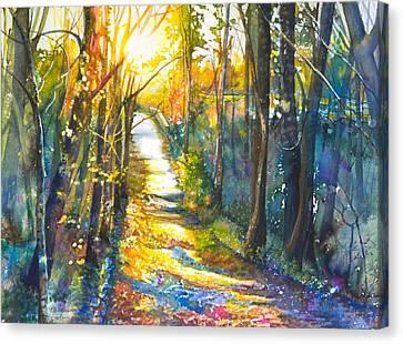 Path To The Bridge Canvas Print by Patricia Allingham Carlson
