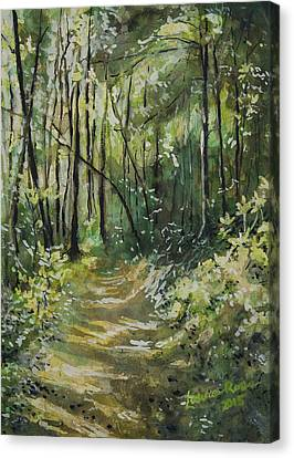 Pathway Canvas Print by Laura Ross