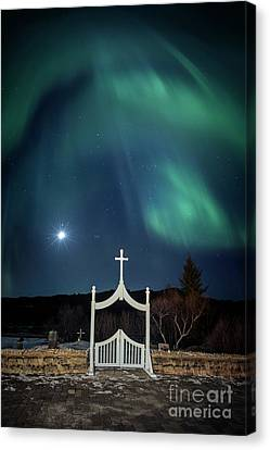 Pathway To The Moon Canvas Print by Evelina Kremsdorf