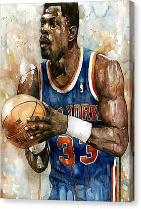 Patrick Ewing Canvas Print by Michael  Pattison
