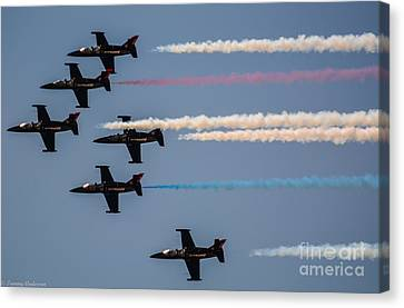 Patriot Aerial Demonstration Team Canvas Print by Tommy Anderson