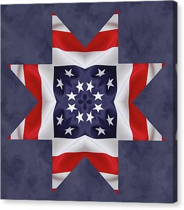 Patriotic Star 2 Canvas Print by Jeff Kolker