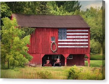 Patriotic Farmer Canvas Print by Lori Deiter
