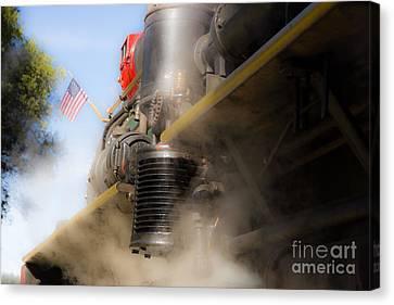 Patriotic Steam Train Canvas Print by Juan Romagosa