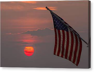Patriotic Sunset Canvas Print by Mark Papke