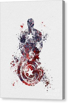 Patriotic Supersoldier Canvas Print by Rebecca Jenkins