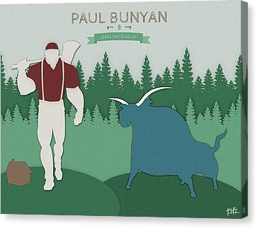 Paul And Babe Canvas Print by Kody Knoche