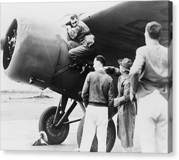 Paul Mantz, Stunt Pilot And Air Racer Canvas Print by Everett