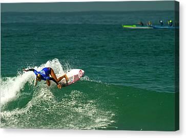 Pauline Ado Surfer Girl Canvas Print by Waterdancer