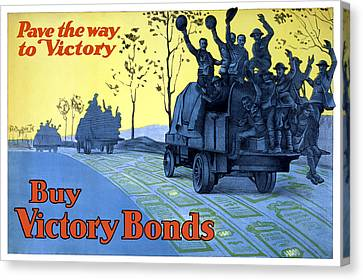 Pave The Way To Victory Canvas Print by War Is Hell Store