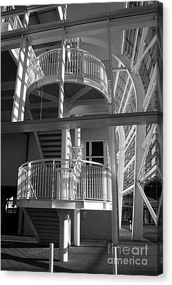 Pavilion Stairs At The Ageas Rose Bowl Canvas Print by Terri Waters