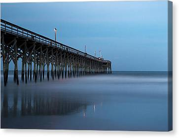 Pawleys Island Pier During The Blue Hour Canvas Print by Ivo Kerssemakers