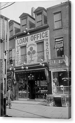 Pawn Shop, Photograph, 1900s-1930s Canvas Print by Everett