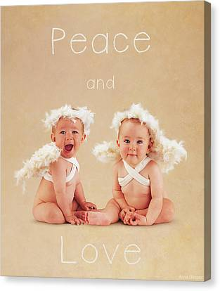 Peace And Love Canvas Print by Anne Geddes