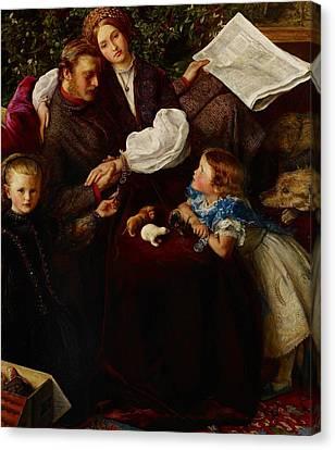 Peace Concluded Canvas Print by Sir John Everett Millais