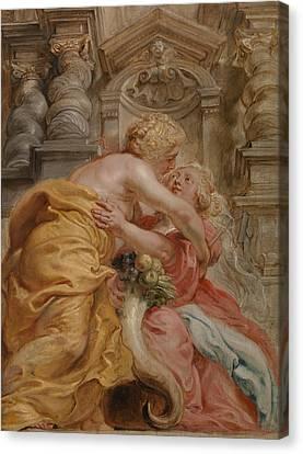 Peace Embracing Plenty Canvas Print by Peter Paul Rubens