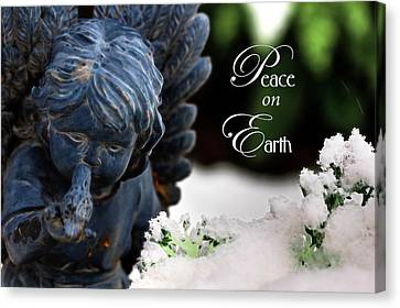 Peace On Earth Angel Canvas Print by Shelley Neff