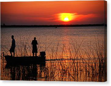 Peace Over The Water Canvas Print by Susanne Van Hulst