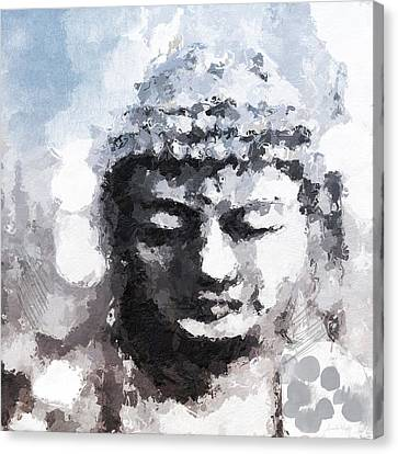 Peaceful Buddha- Art By Linda Woods Canvas Print by Linda Woods