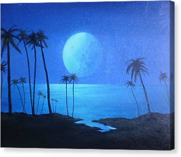 Peaceful Moonlit Night Canvas Print by Michael Odom