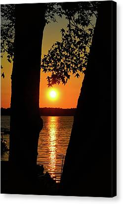 Peaceful Sunday Sunset Canvas Print by Tony Hill