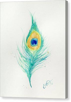 Peacock Feather 2 Canvas Print by Oddball Art Co by Lizzy Love
