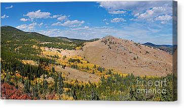 Peak To Peak Highway Fall Foliage In The Rocky Mountains - Boulder County Colorado State Canvas Print by Silvio Ligutti