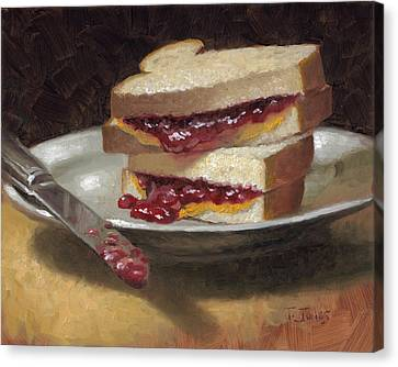 Peanut Butter Jelly Time Canvas Print by Timothy Jones