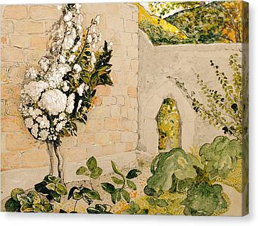 Pear Tree In A Walled Garden Canvas Print by Samuel Palmer