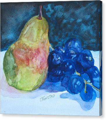 Pearcial To Grapes Canvas Print by Jenny Armitage