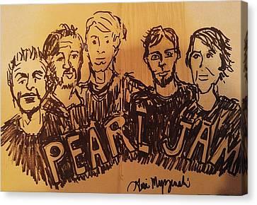 Pearl Jam Canvas Print by Geraldine Myszenski